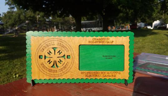 4H Fair Prize- Custom Wood Frame