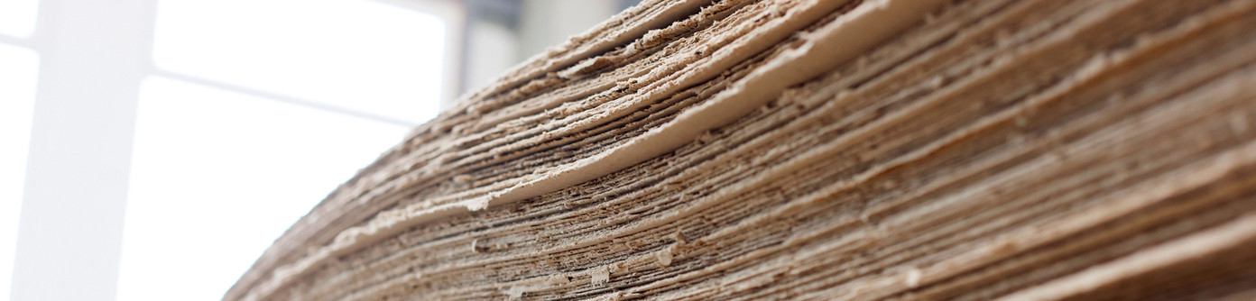 folhas de papelão