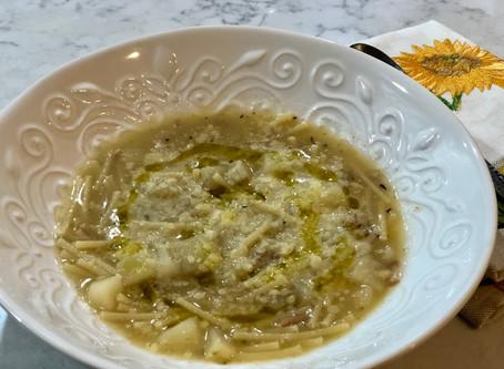 Zuppa de patate con pasta (potato and pasta soup)