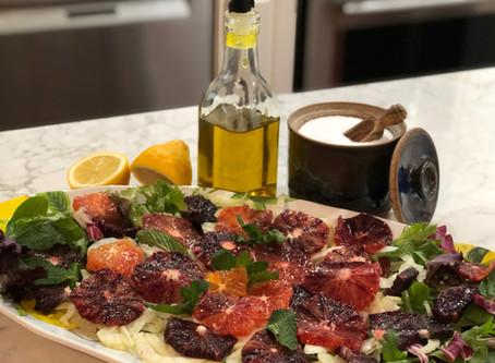 Spring salad: Blood orange and fennel