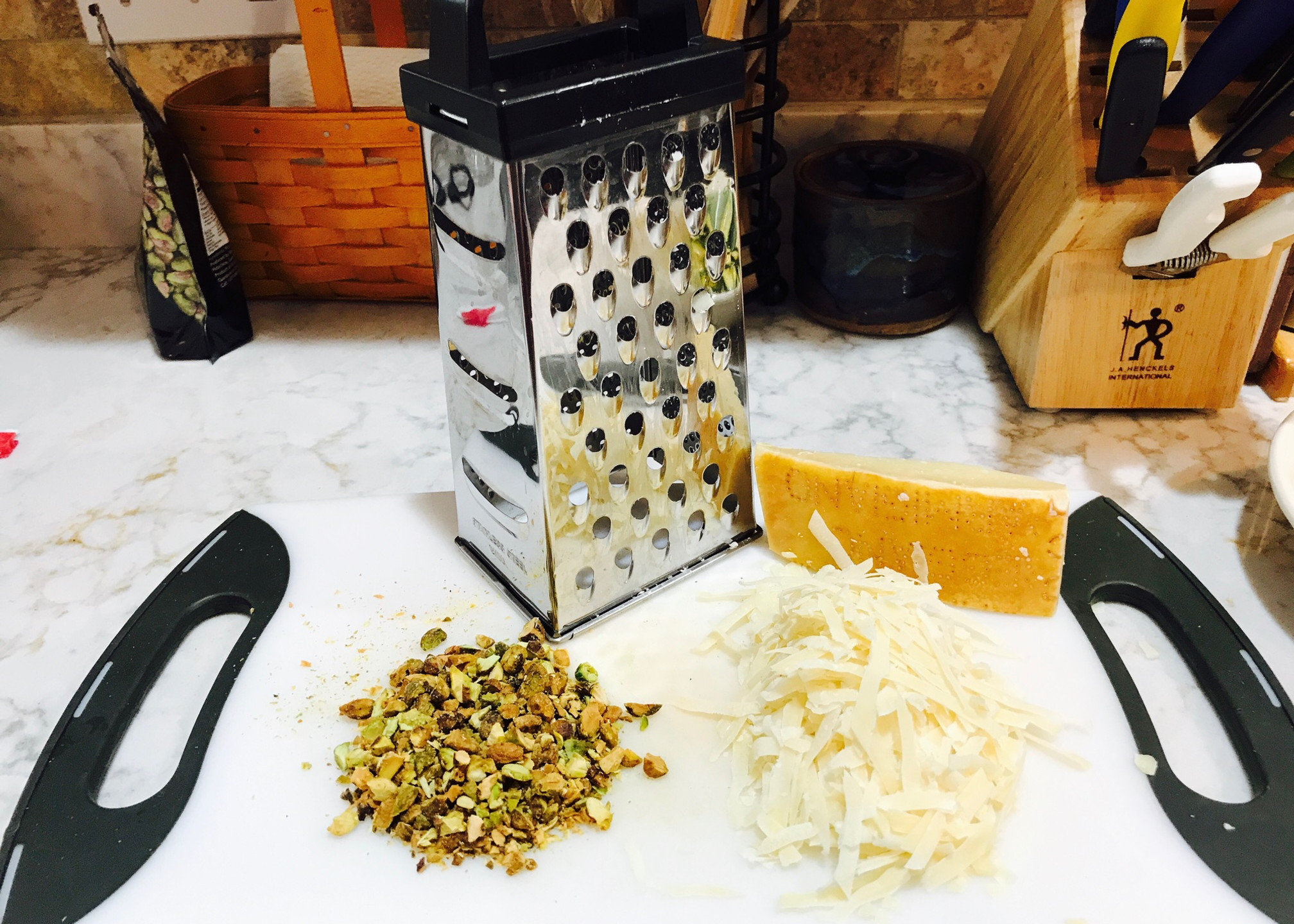 Cheese and Pistachios
