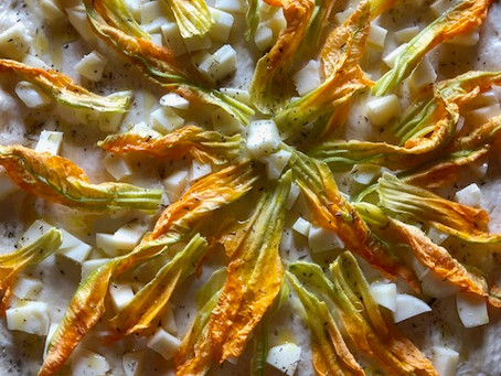 When summer gives you zucchini flowers...