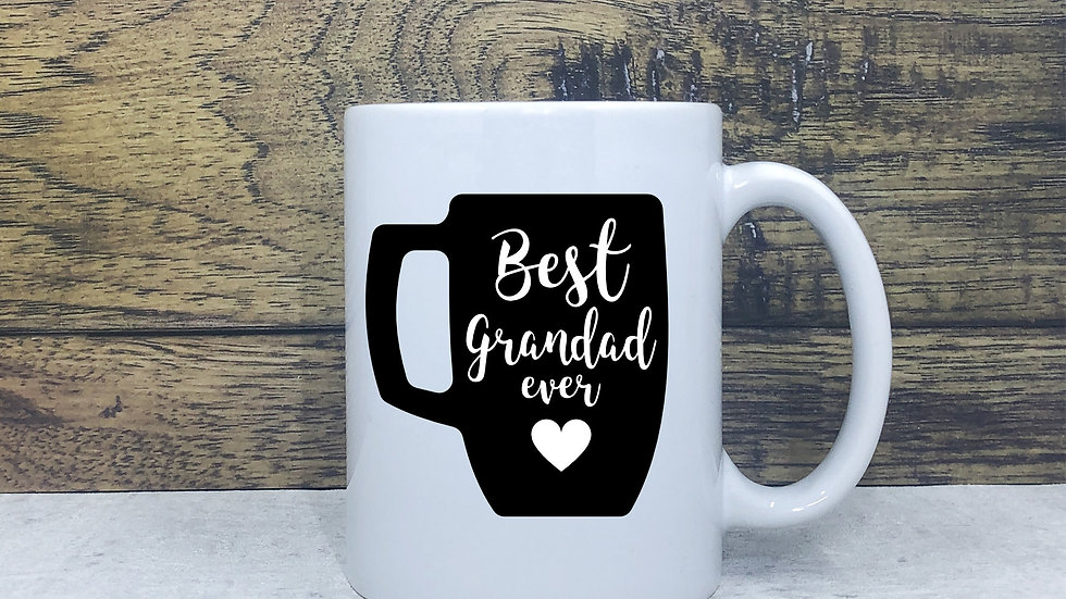 Best Grandad Ever Vinyl Mug