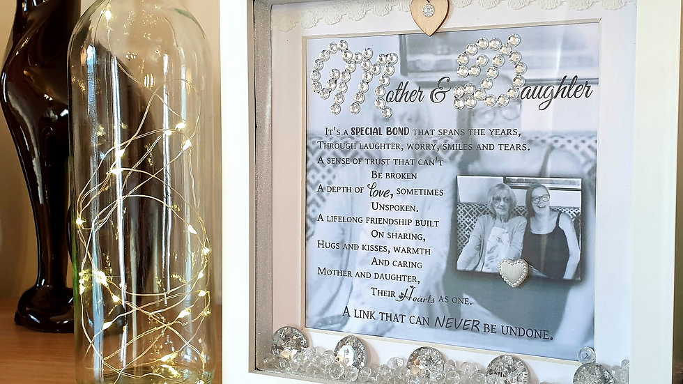 Mother and Daughter Custom Box Frame