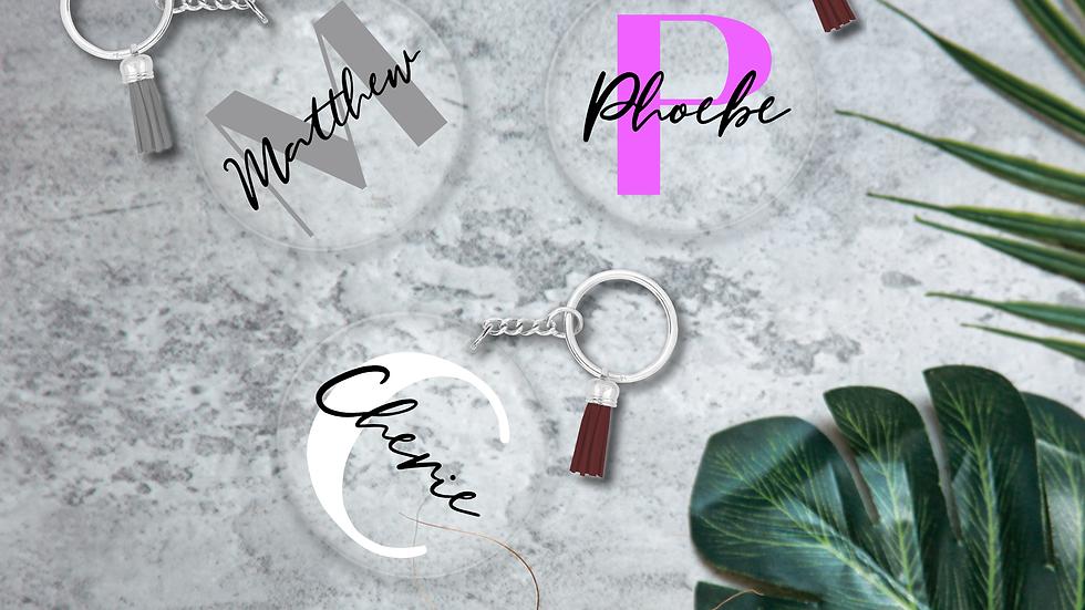 Personalised Executive Style Key Ring
