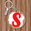 Thumbnail: Personalised Paint Splash Key Ring
