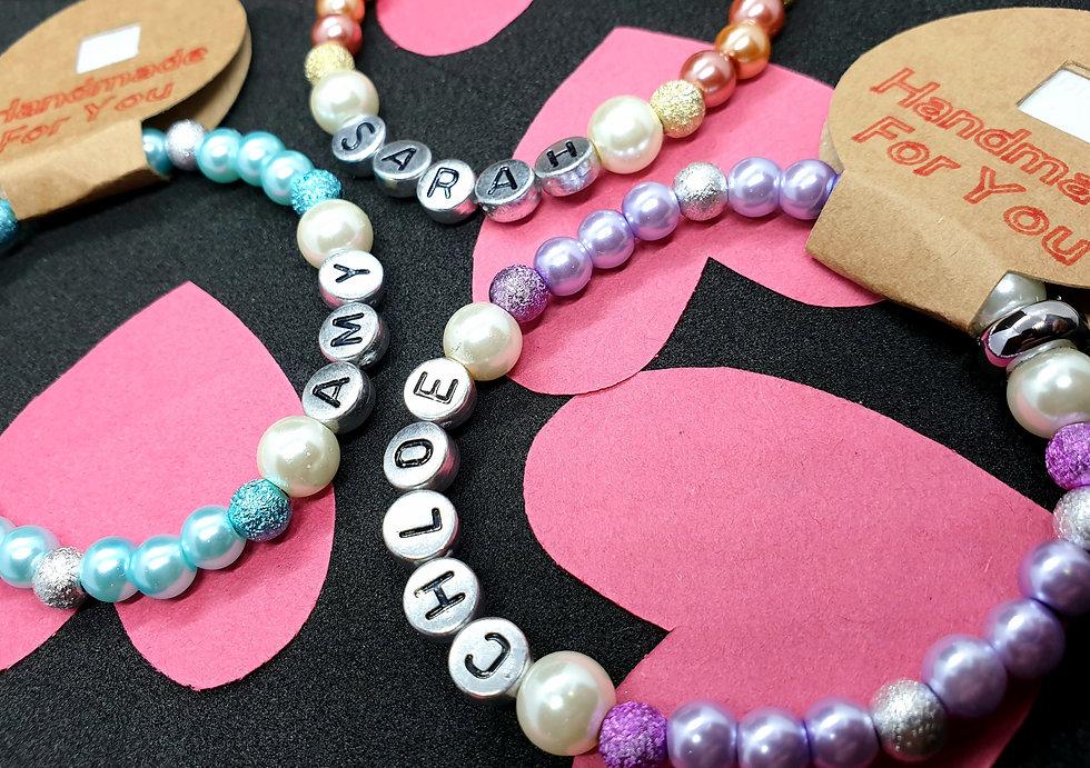 Handmade Beaded Bracelet Personalised