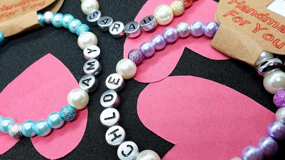 Personalised Beaded Bracelet