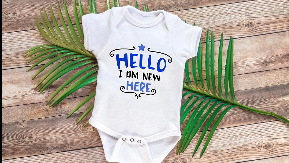 Newborn 'Hello' Baby Vests