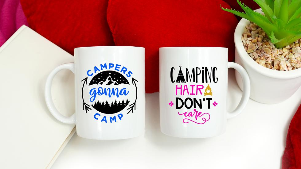 Camping Lovers Vinyl Gift Mug