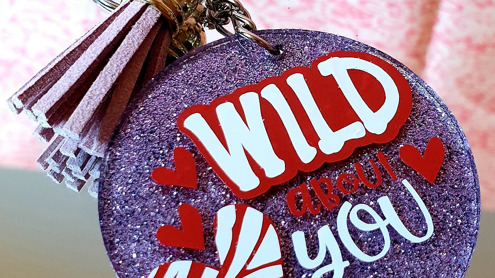Wild About You Glitter Key Ring