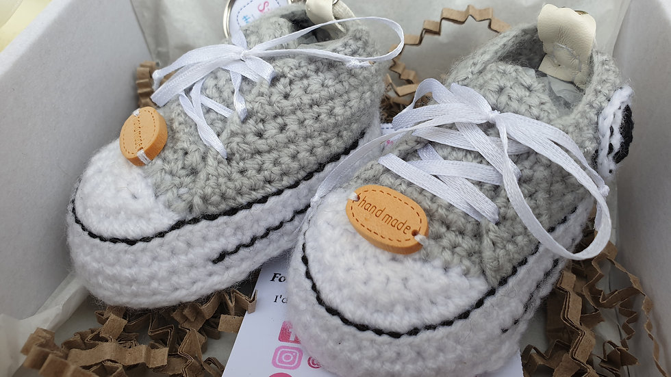 Crocheted Baby Converse Booties