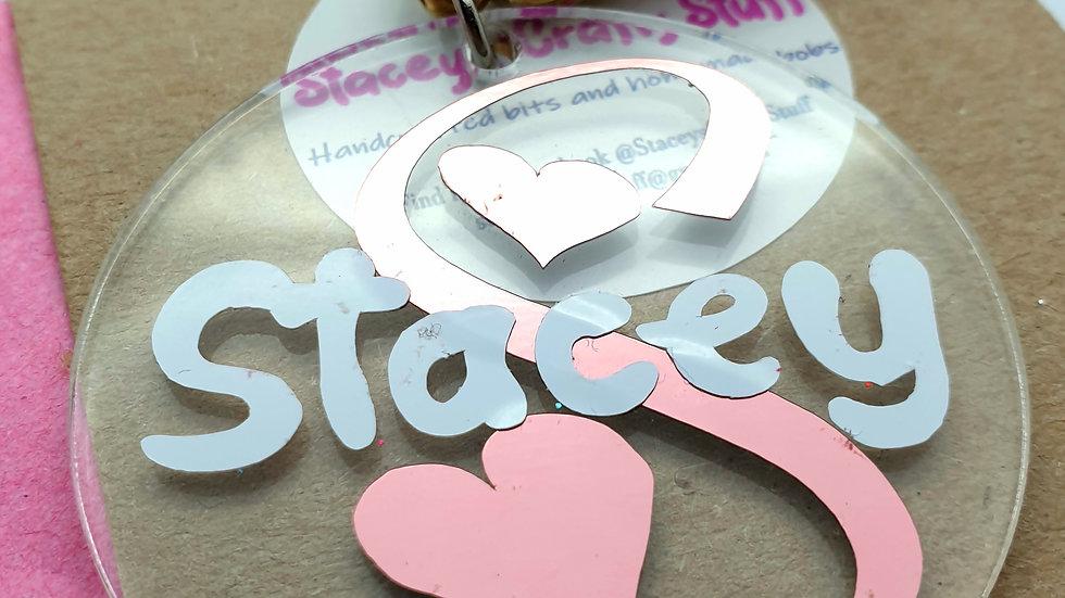 Personalised Heart Key Ring