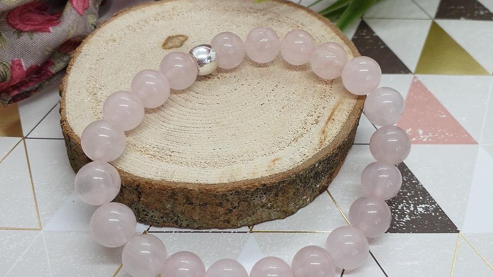 Rose Quartz Elasticated Bracelet
