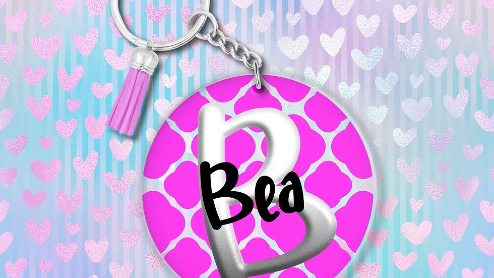 Personalised Waffle Key Ring