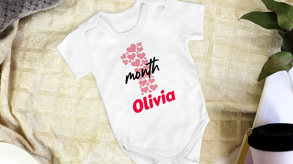 Personalised Baby Age Number Vest