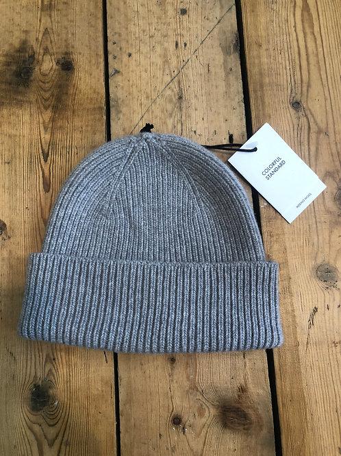 Colorful Standard Merino wool Beanie hat in Heather Grey