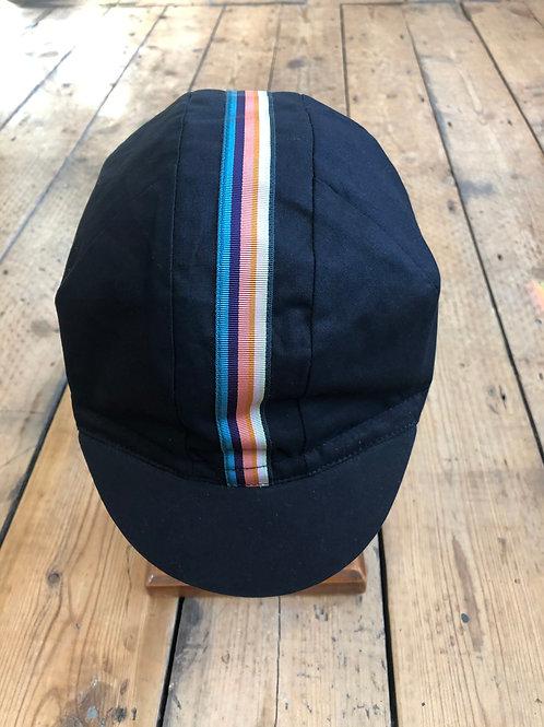 Paul Smith stripe cycling cap in black