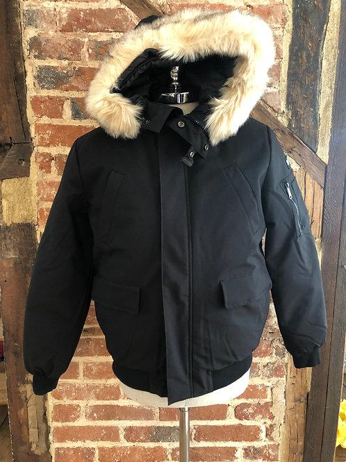 Schott 'Keyburn' snorkel jacket in black