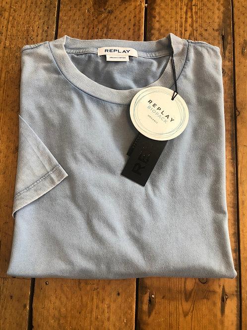 Replay 'Biopack' organic cotton T-Shirt in Periwinkle