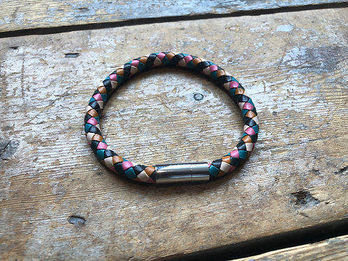 Paul Smith multicoloured leather plait bracelet