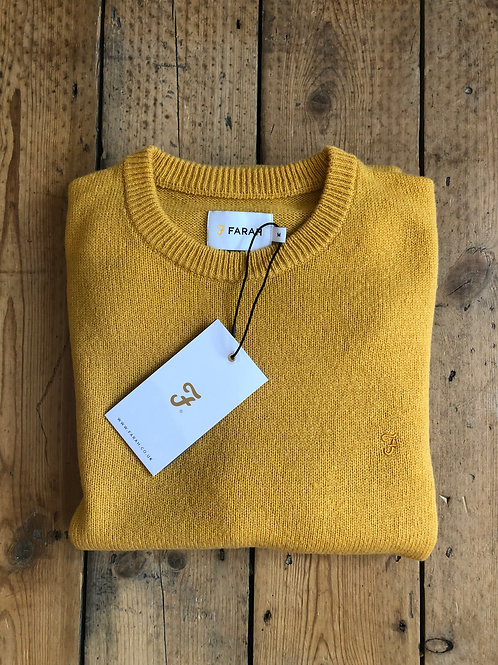 Farah 'Rosecroft' Pullover in Dark Mustard
