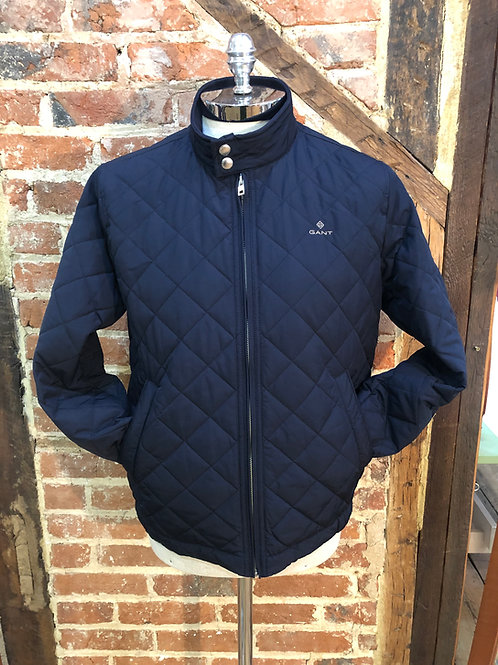 Gant Quilted Windcheater in Evening Blue.