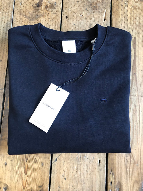 Scotch & Soda Logo sweat in Navy