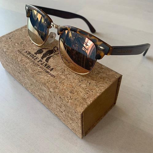 Swole Panda 'Clubmasters' Bamboo Sunglasses in Tortoiseshell/Pearl