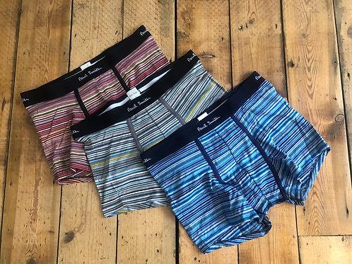 Paul Smith Underwear, 'Boxer brief' Stripe trunks three pack