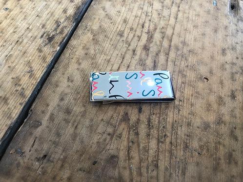 Paul Smith multicolour logo money clip