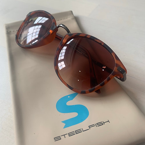 Steelfish 'Taormina 2' sunglasses in tortiseshell/tan/clear