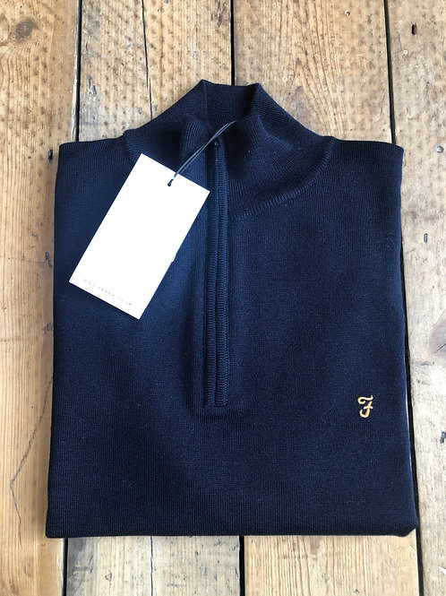 Farah 'Redchurch' 1/4 zip Pullover in Navy