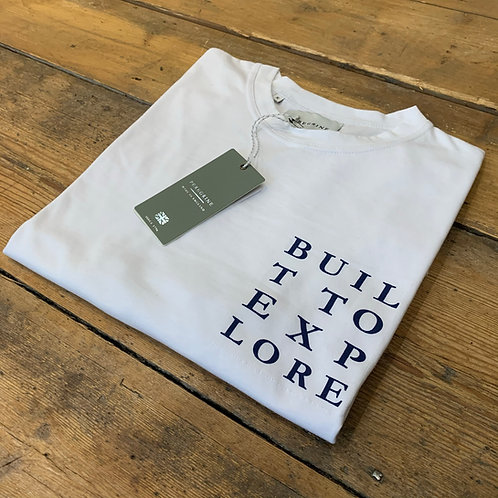 Peregrine 'Built to Explore' T-shirt in White