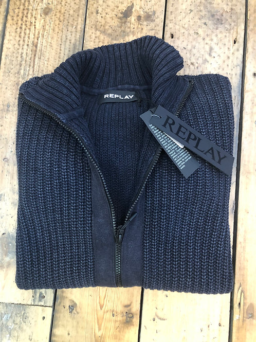Replay cotton full zip cardigan