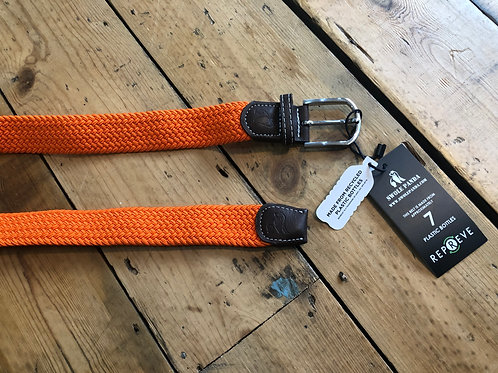 Swole Panda Recycled woven belt in Tangerine Orange