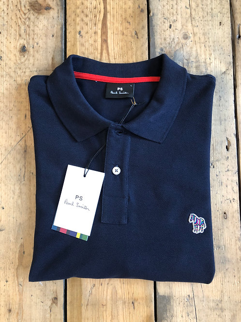 Paul Smith long sleeved polo shirt in navy.