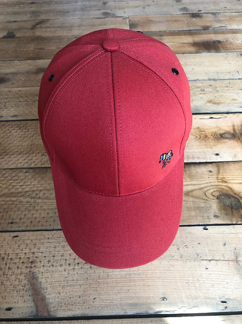 Red Paul Smith zebra baseball cap