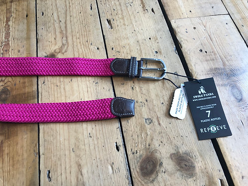 Swole Panda Recycled woven belt in Rich Pink