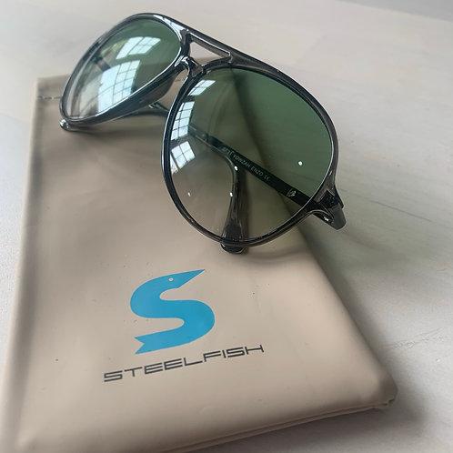 Steelfish 'Yowzah Enzo' sunglasses in Smoke/Clear