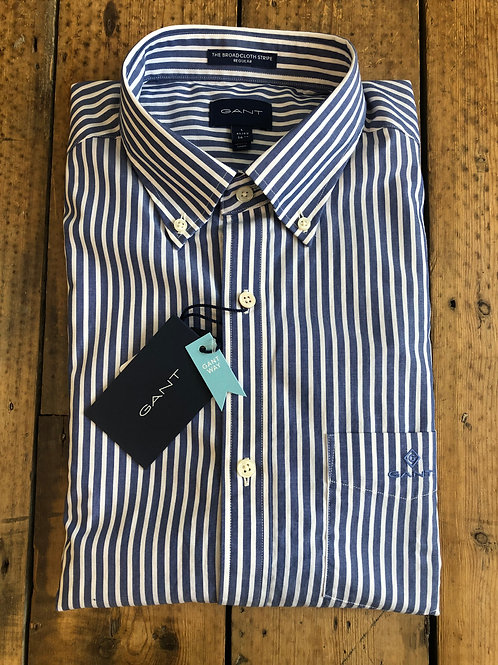 Gant 'The Broadcloth Stripe' shirt in college blue