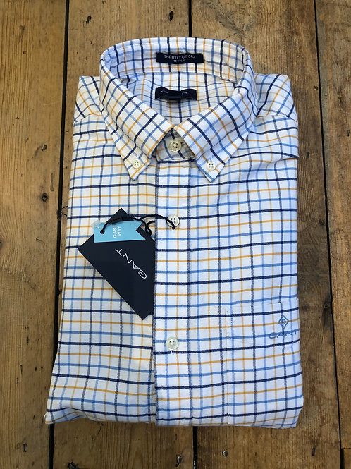 GANT Beefy Oxford check shirt in Ivy Gold