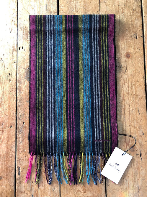 PS by Paul Smith 'Collage Stripe' wool  scarf