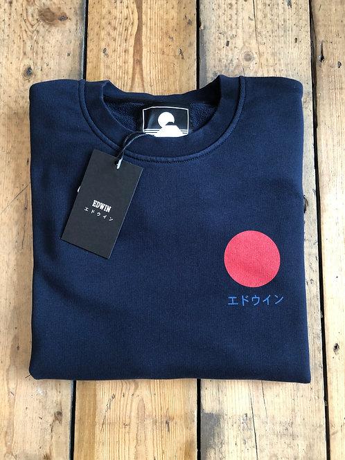 Edwin Japanese Sun Sweatshirt in Navy
