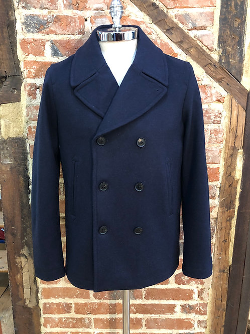 Gant wool pea coat in Navy