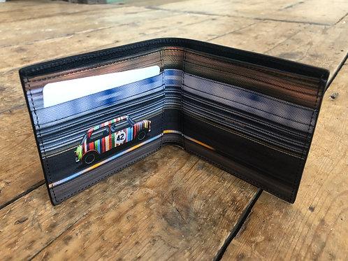 Paul Smith black racing mini print billfold wallet