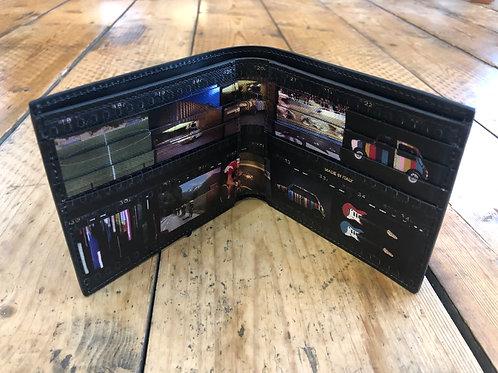 Paul Smith black internal multi image print billfold wallet