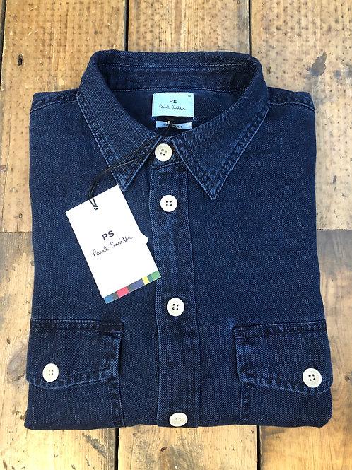 Paul Smith classic fit dark denim shirt