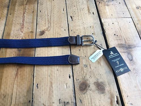 Swole Panda Recycled woven belt in Navy