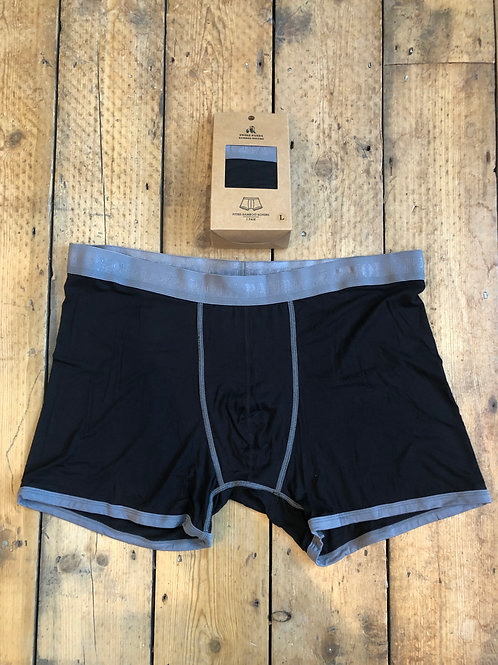 Swole Panda Black with Grey waistband bamboo underwear